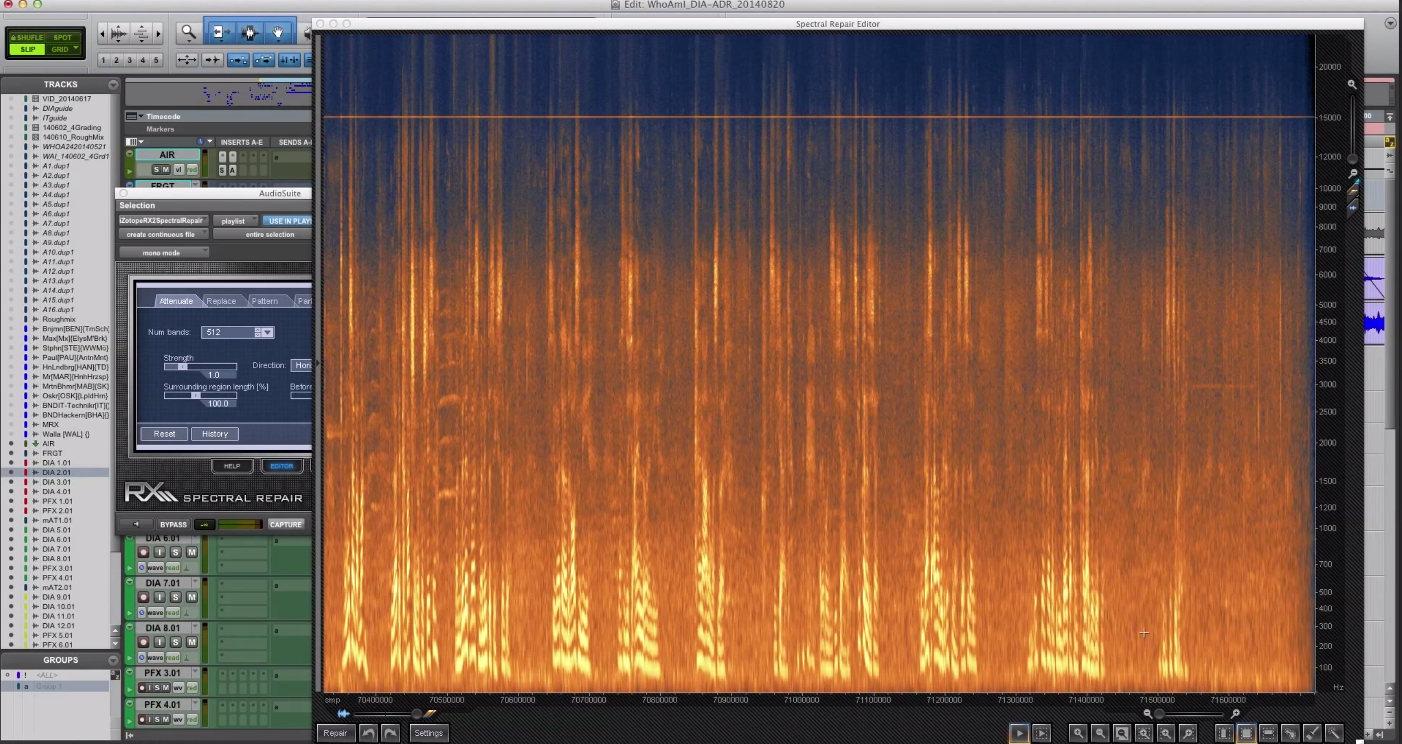 Spektrale Korrekturarbeiten mit Izotope Spectral Repair