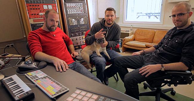 Marek, Paul und Cecil verabschieden sich in die nächste Produktion